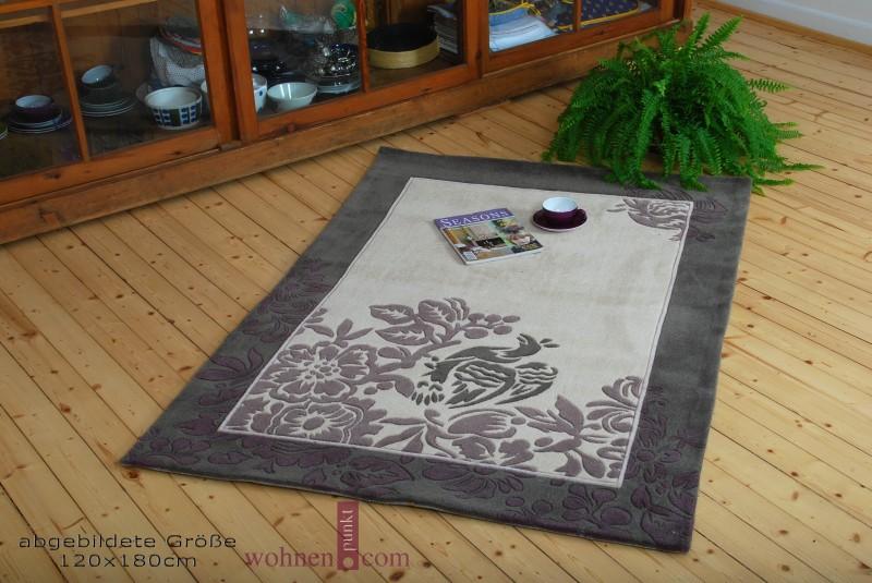 Teppich Paradies verschiedene Größen grau  flieder  eBay