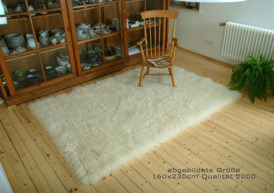 flokati hochflor schurwoll teppich natur qualit t 1500 ebay. Black Bedroom Furniture Sets. Home Design Ideas