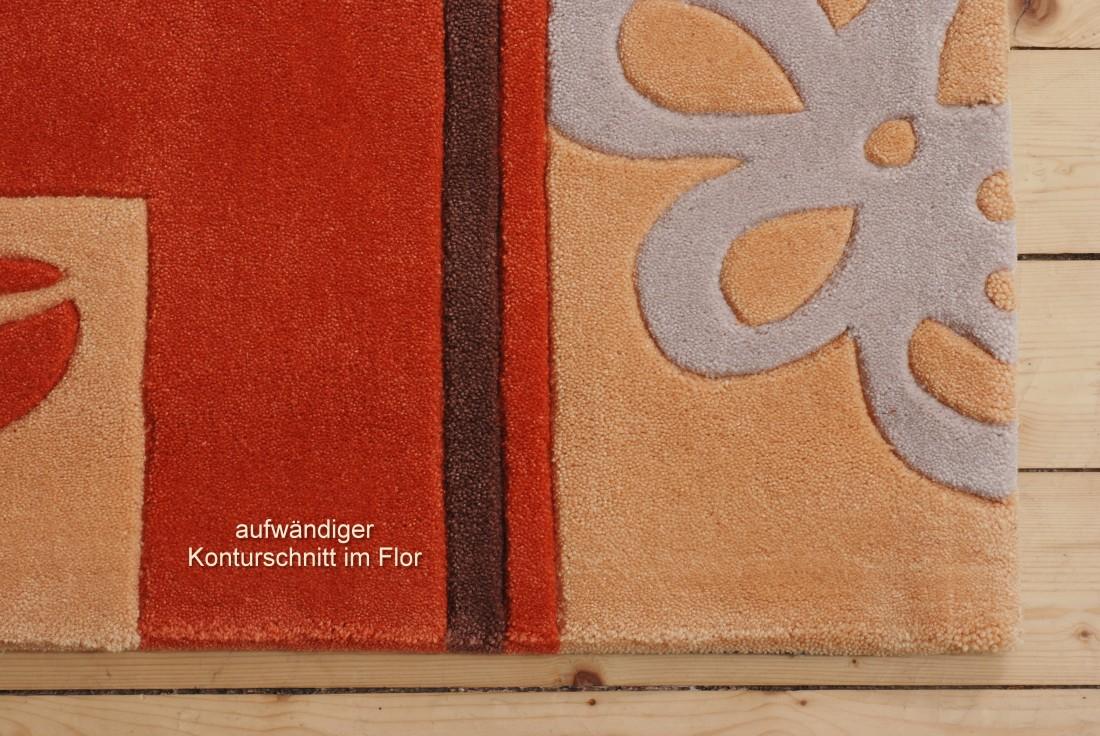 bordueren teppich handgearbeitet farbe terracotta beige verschiedene groessen ebay. Black Bedroom Furniture Sets. Home Design Ideas