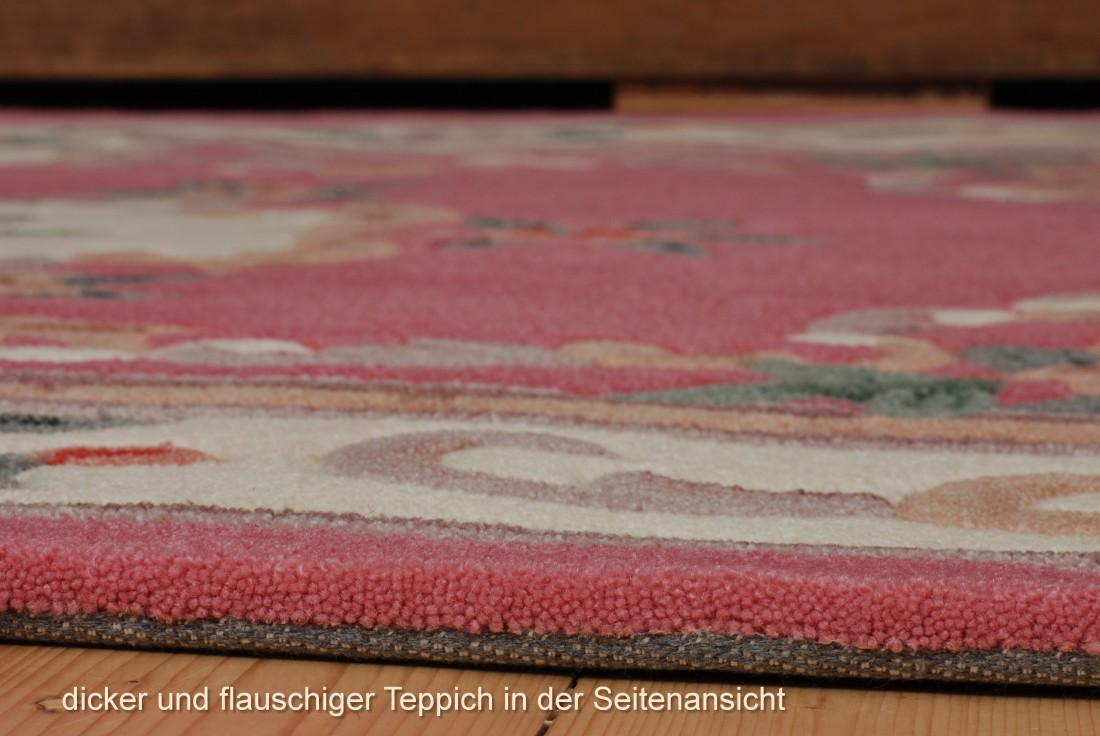 Aubusson Teppich in rose, ein prachtvolles Rankenmotiv  eBay