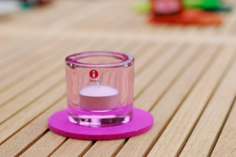 daff filz filzscheibe 10 cm rund untersetzer aus filz pink. Black Bedroom Furniture Sets. Home Design Ideas